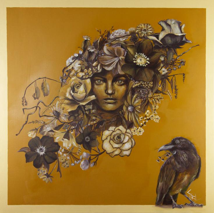 Peinture à l'acrylique par l'artiste peintre Priscilla Seiller