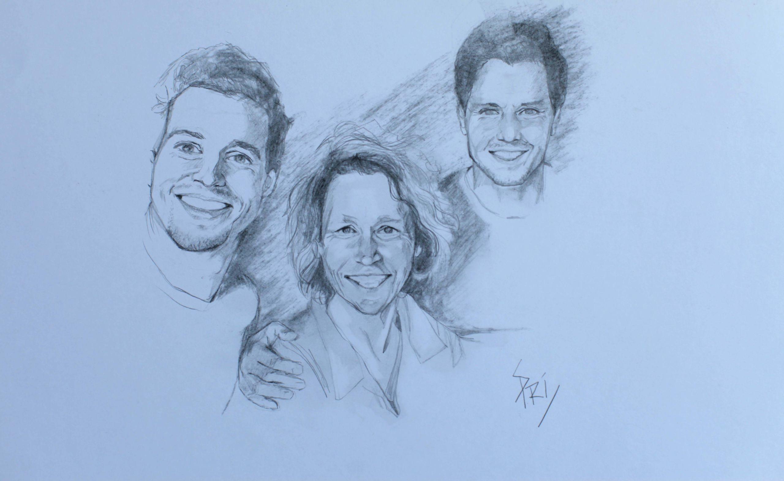portrait d'une famille par Priscilla Seiller
