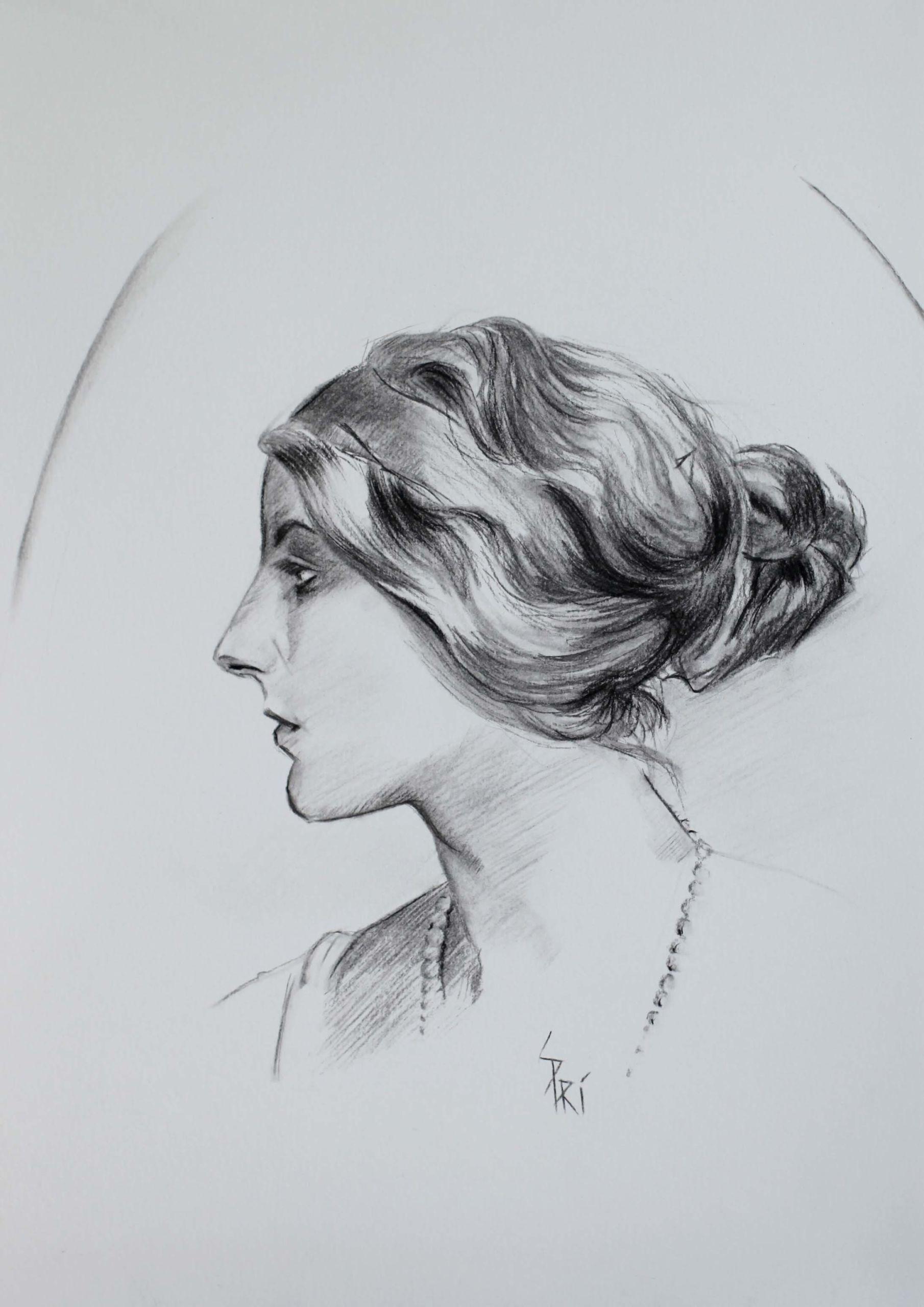 portrait dessiné par Priscilla Seiller, artiste-peintre
