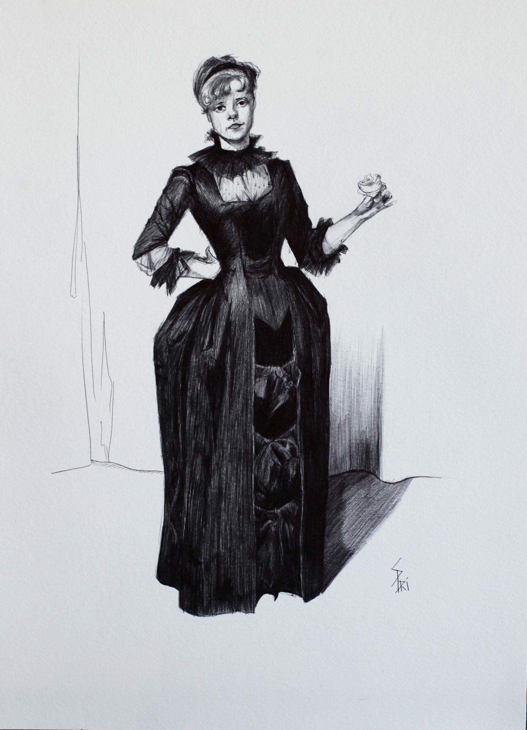 dessin au stylo bic par Priscilla Seiller