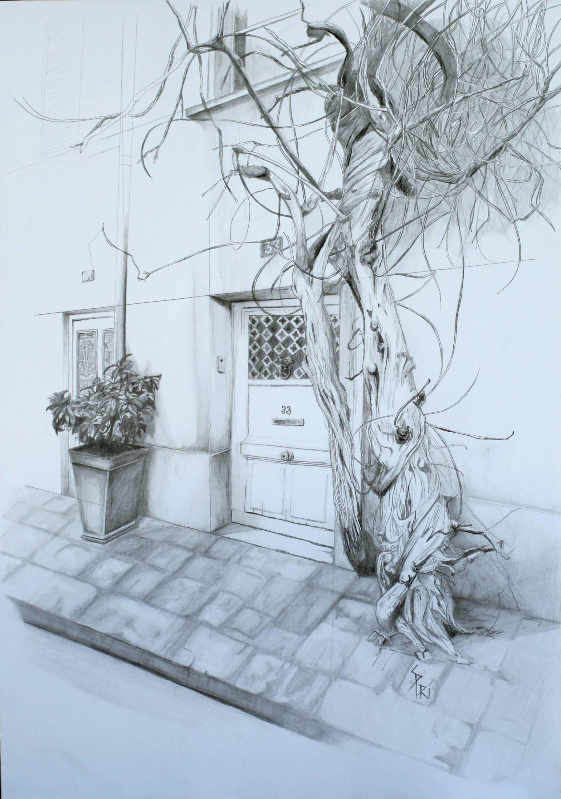 Dessin paysage par Priscilla Seiller