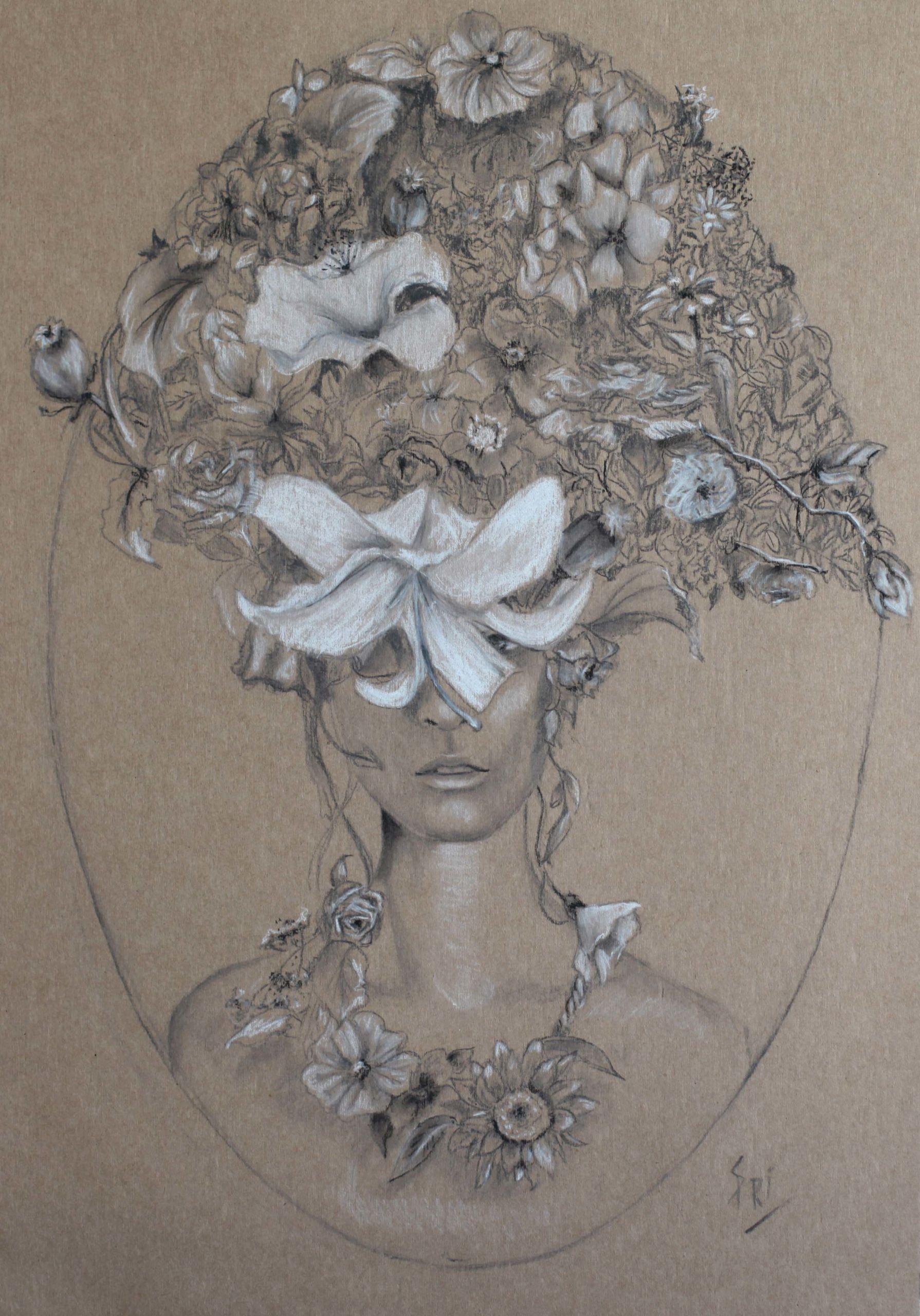 Dessin portrait par Priscilla Seiller, artiste-peintre sous le nom de S.Pri