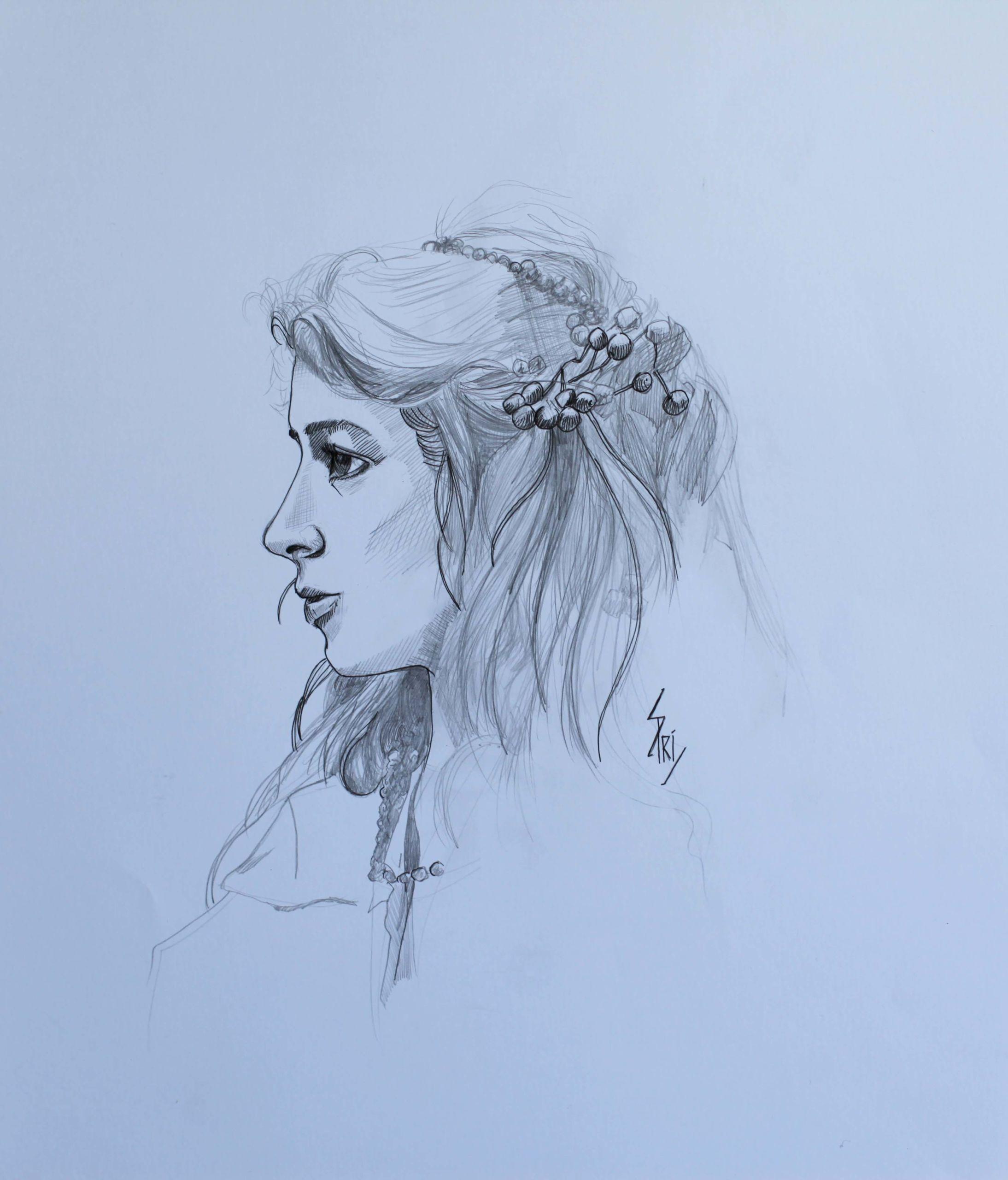 portrait dessiné par Priscilla Seiller, dessinatrice