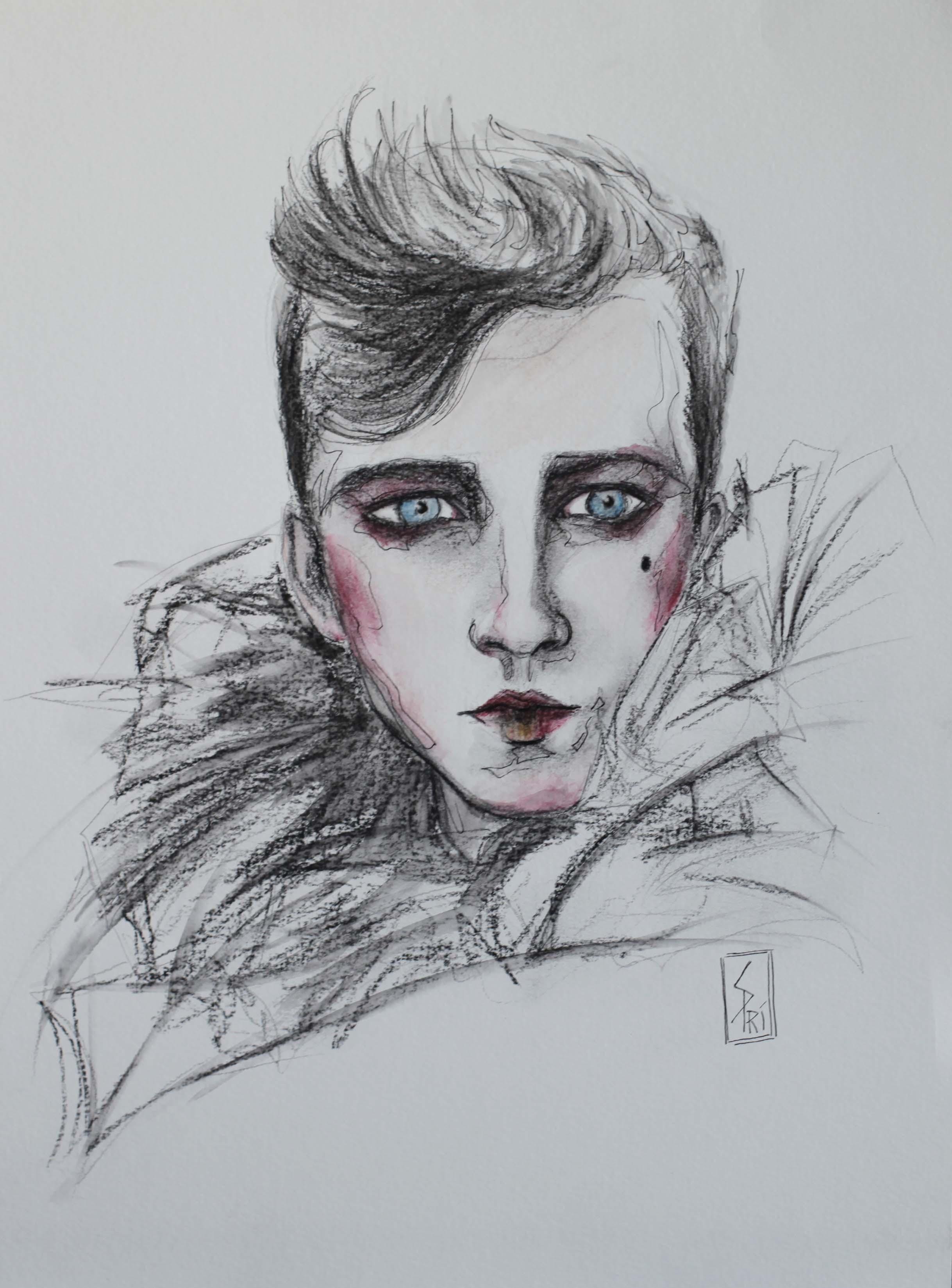 Portrait au crayon par Priscilla Seiller