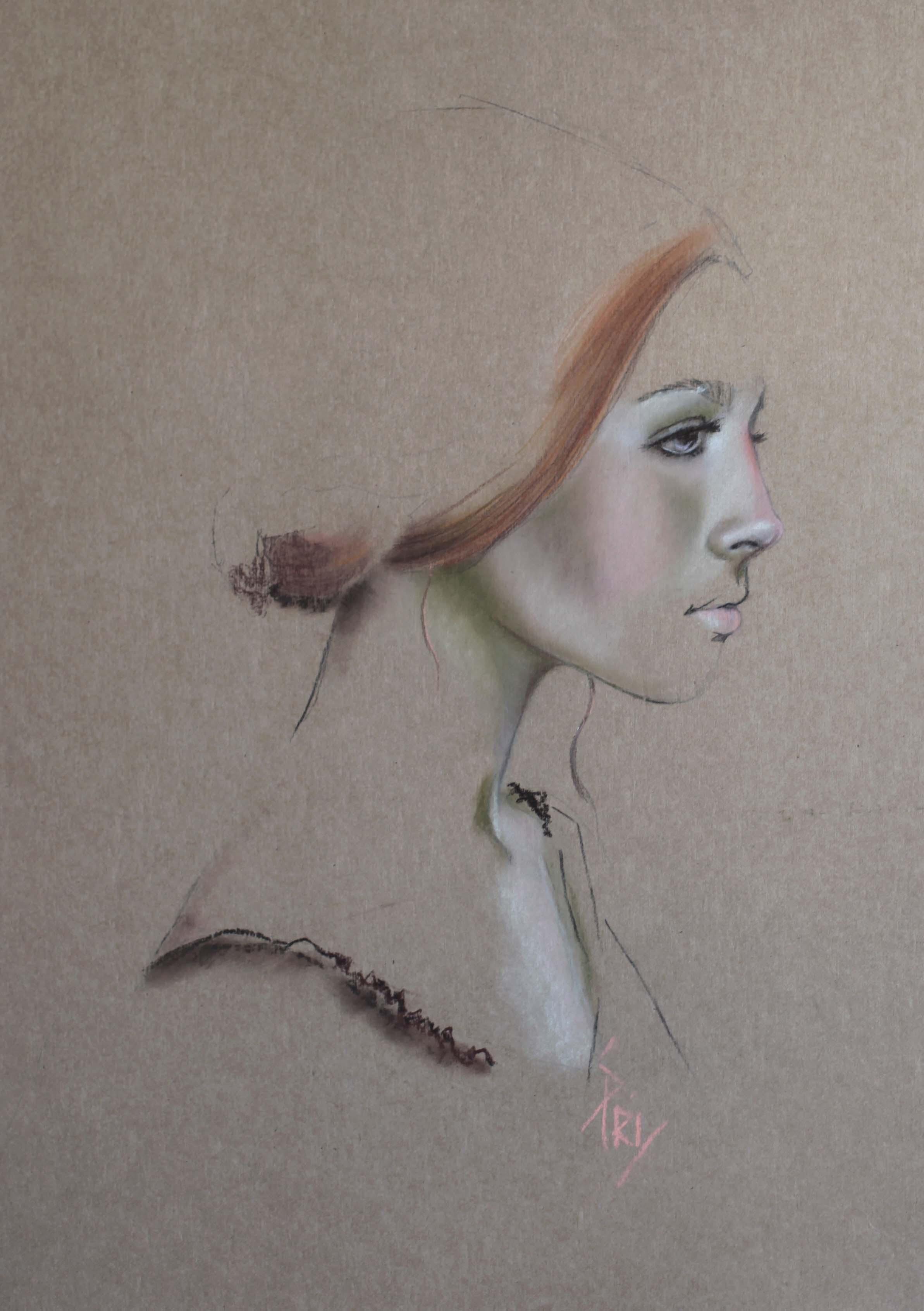 Portrait au pastel par Priscilla Seiller, S.Pri