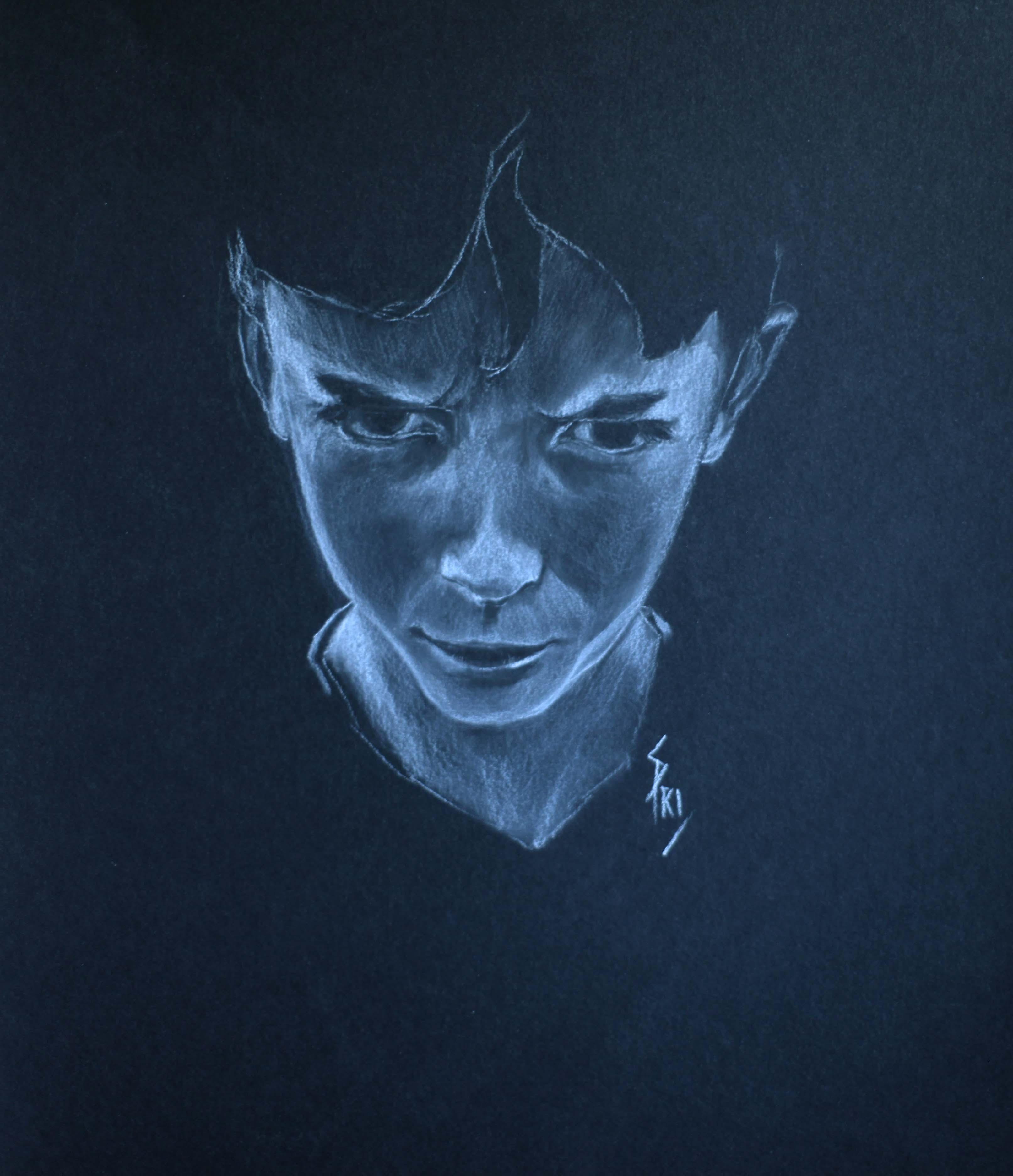 Portrait Ewen dessiné par Priscilla Seiller, artiste Peintre