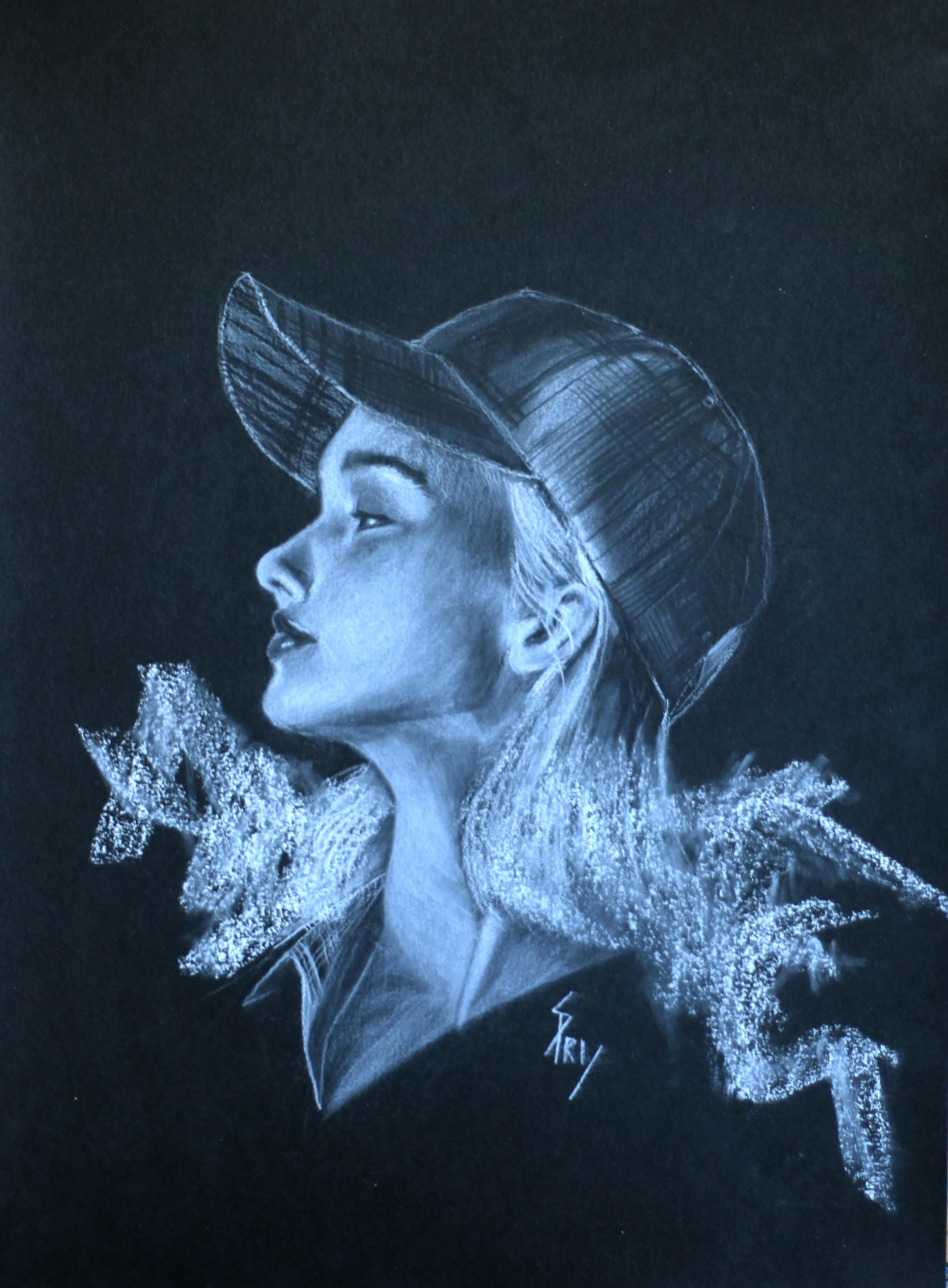 Portrait fille par l'artiste-peintre Priscilla Seiller-Mandereau