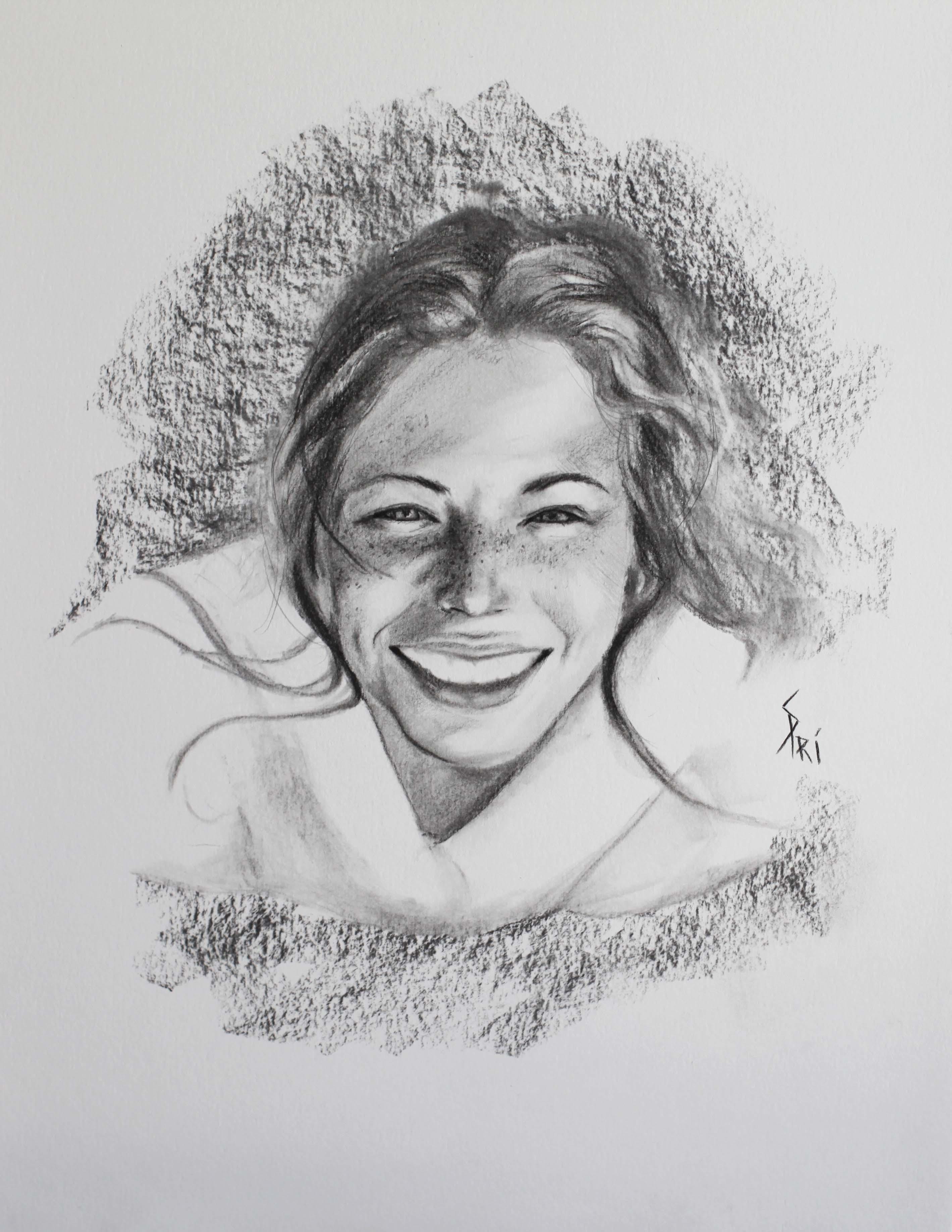 Portrait au sourire par Priscilla Seiller-Mandereau