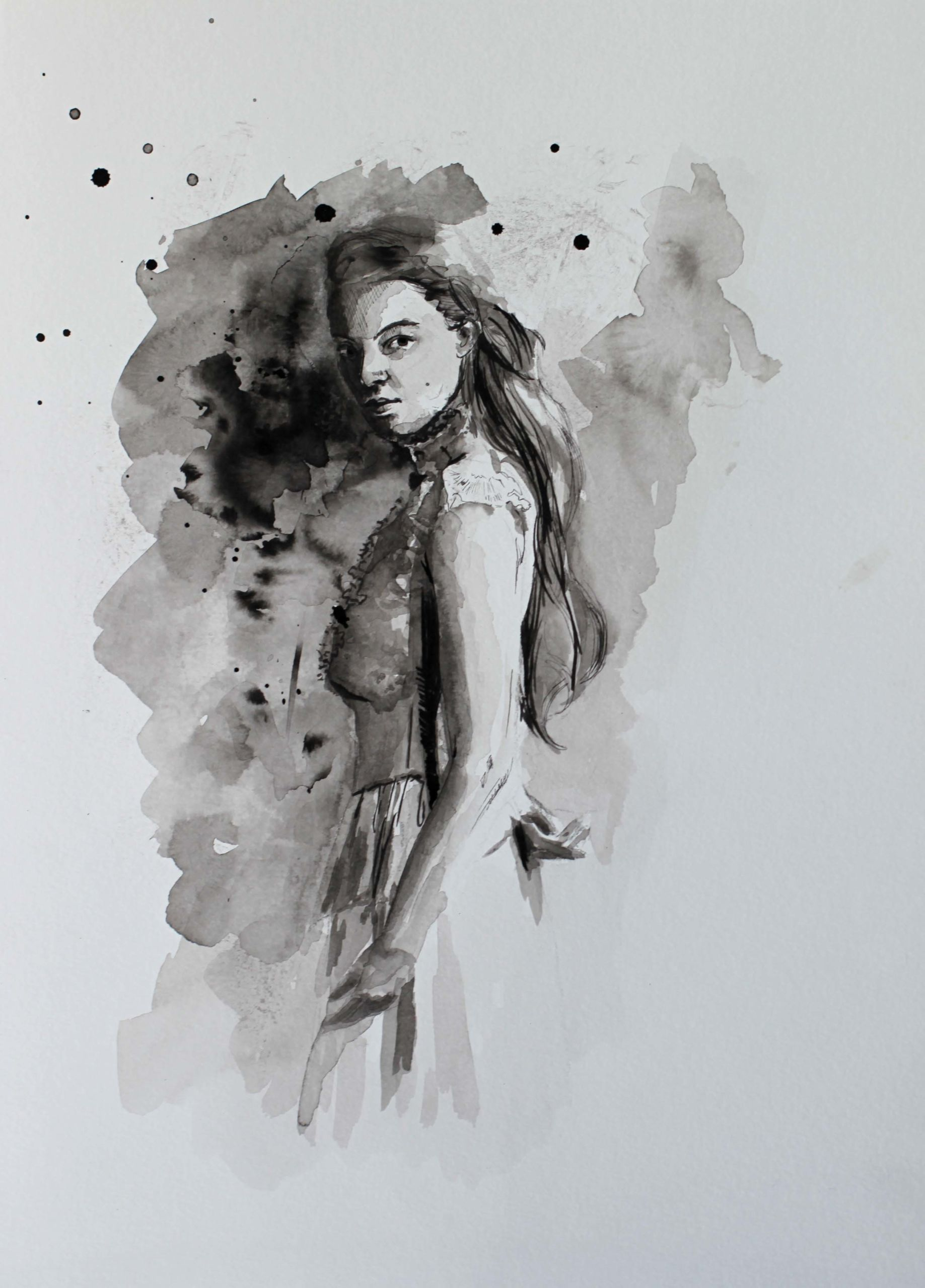 Encre de Chine par Priscilla Seiller-Mandereau, dessinatrice