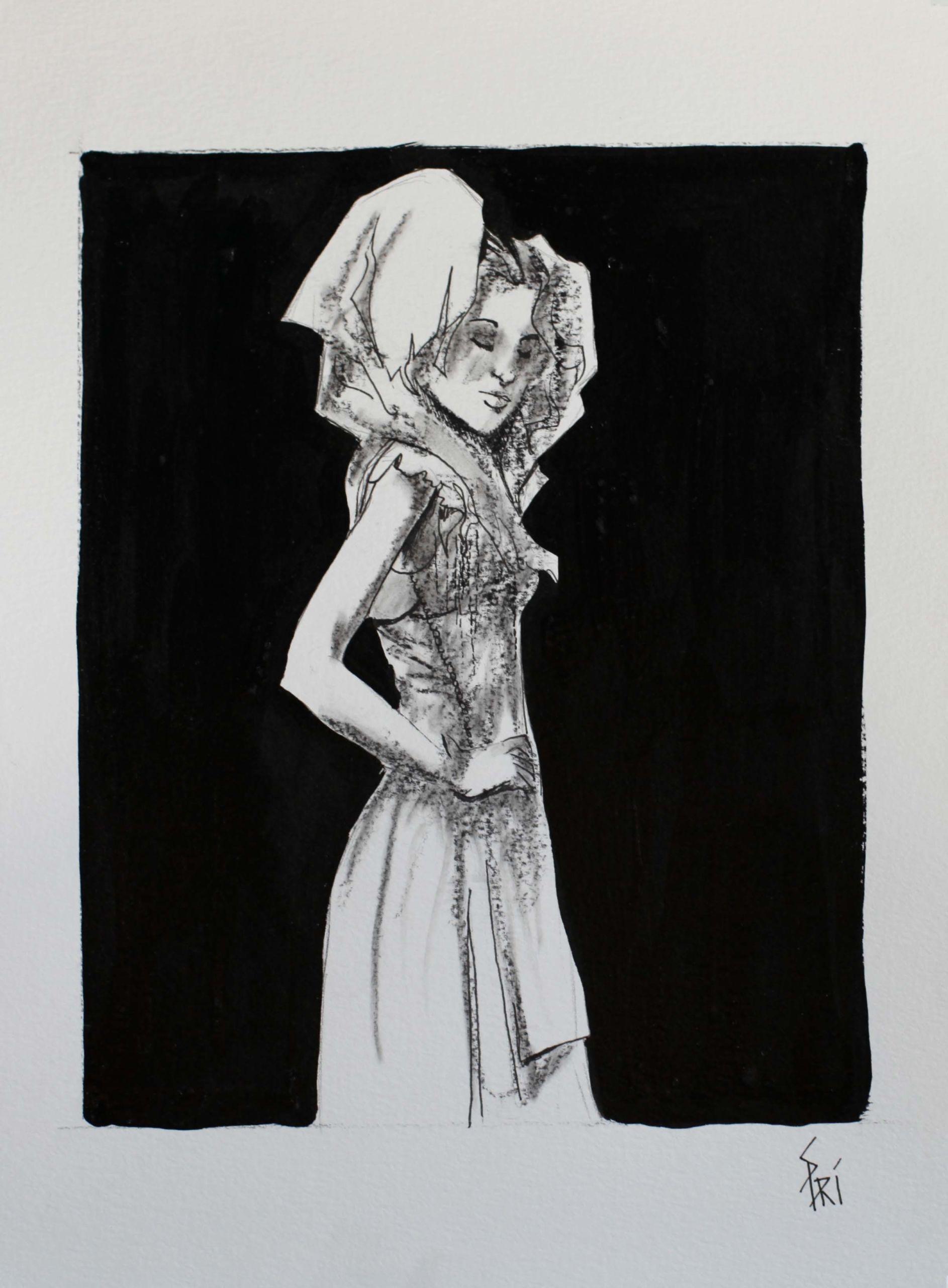 Encre de chine par la dessinatrice Priscilla Seiller-Mandereau