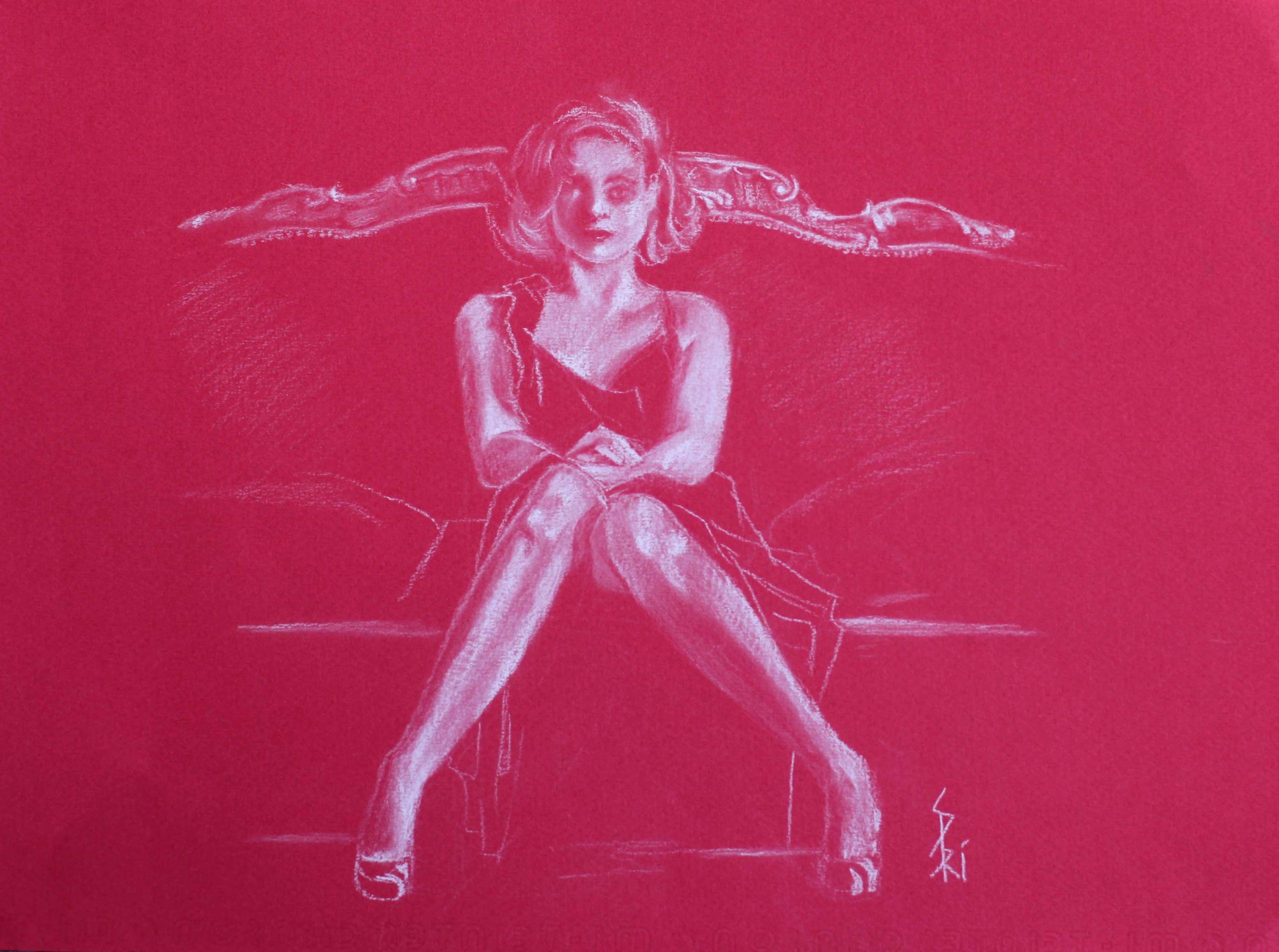 Dessin au crayon par Priscilla Seiller