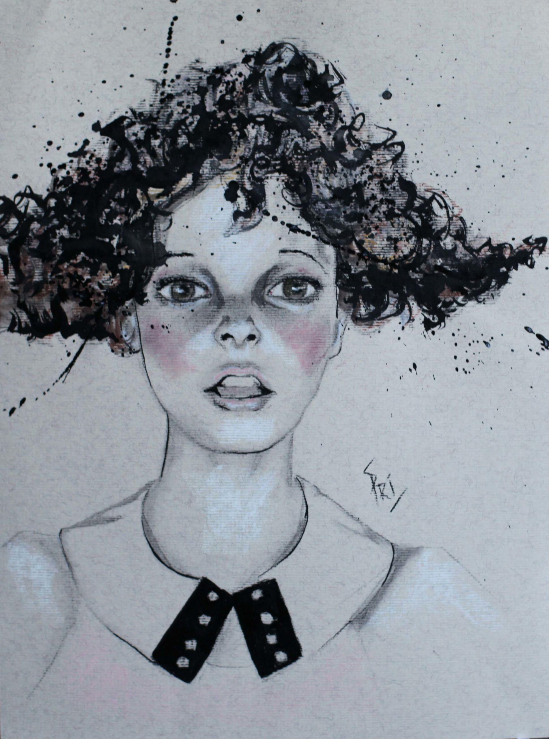 Dessin pastel par Priscilla Seiller