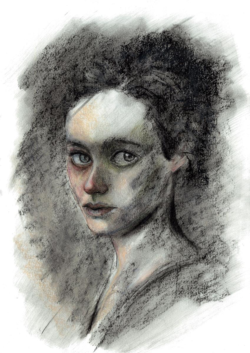 Illustration portrait créée par Priscilla Seiller