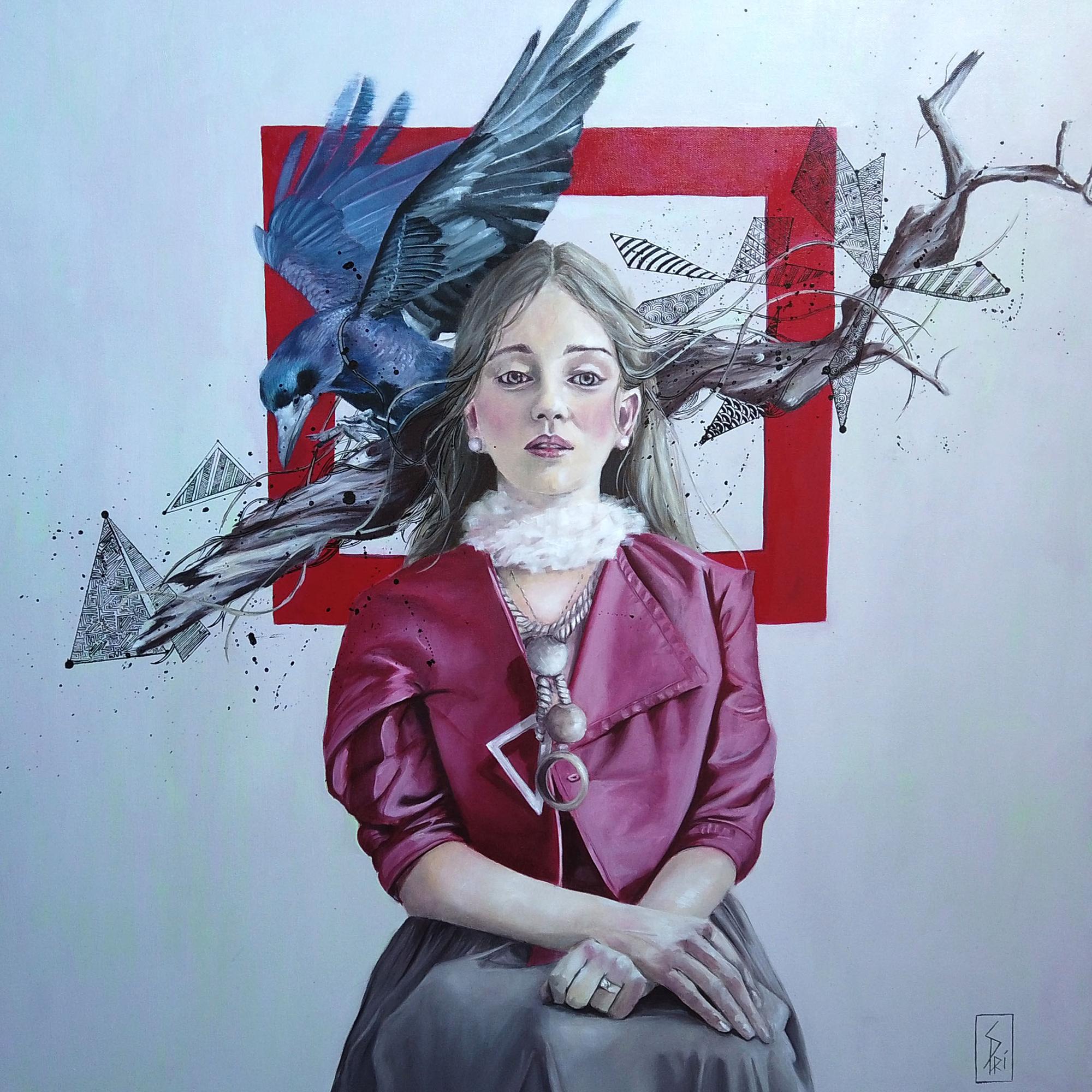 Peinture mixe media acrylique et huile par Priscilla Seiller