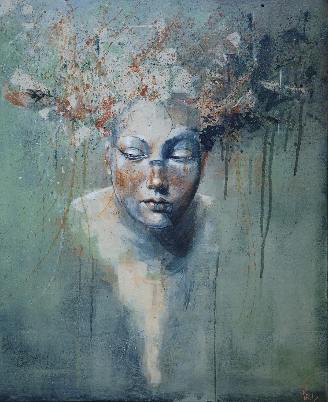 Peinture à l'acrylique créée par l'artiste peintre Priscilla Seiller