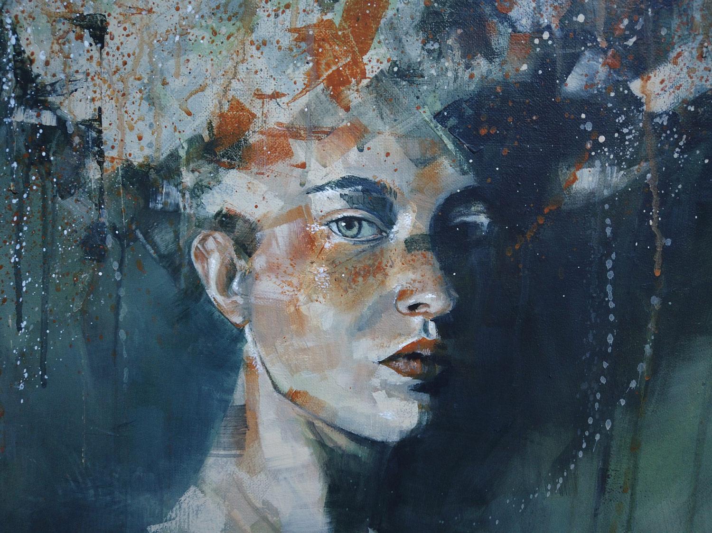 Tableau à l'acrylique de l'artiste peintre Priscilla Seiller
