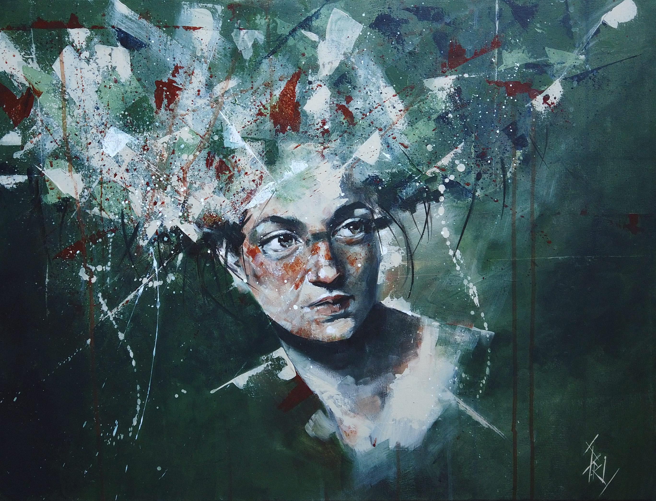 Tableau à l'acrylique peint par Priscilla Seiller, artiste peintre